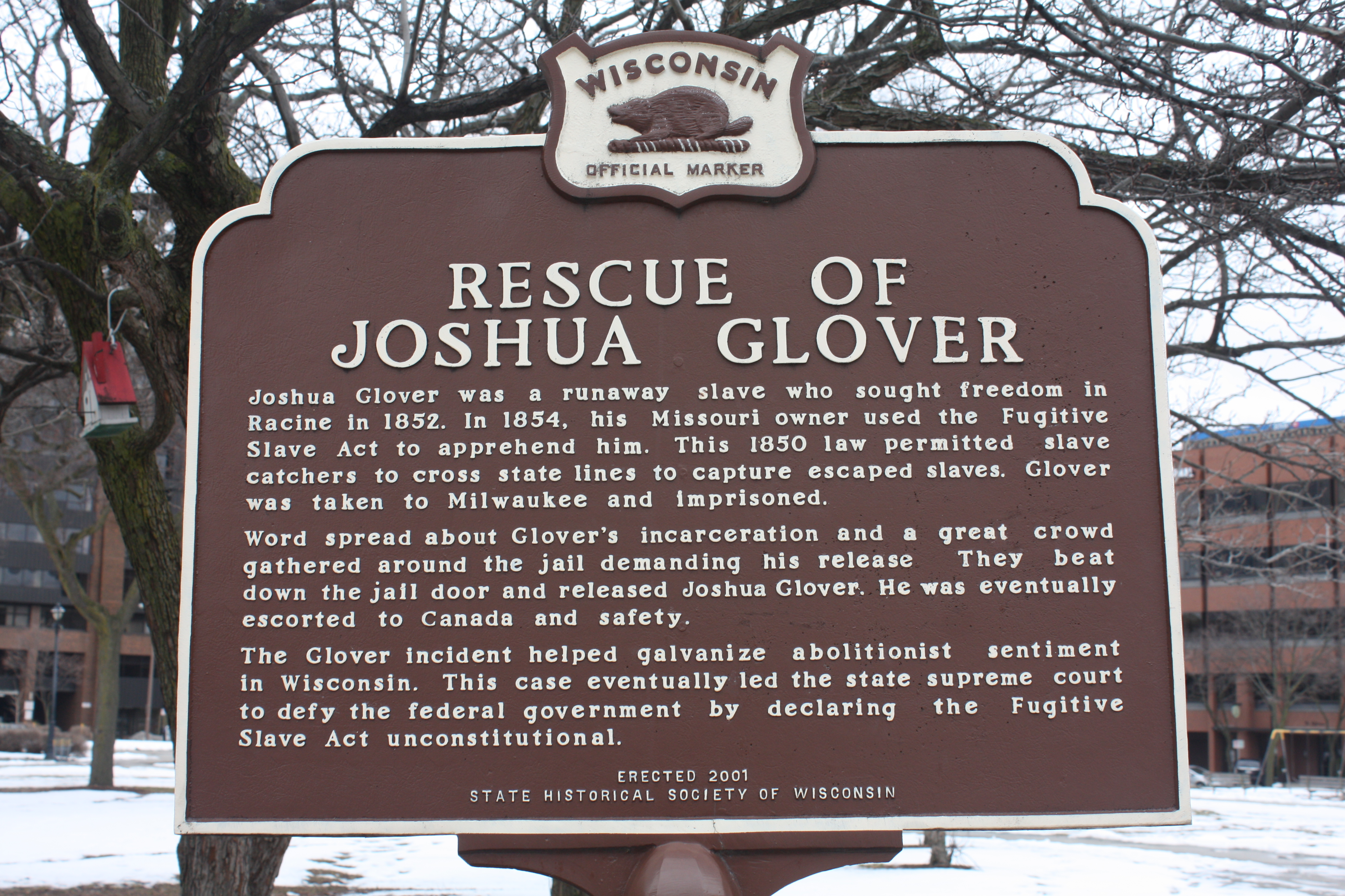 Joshua Glover Marker