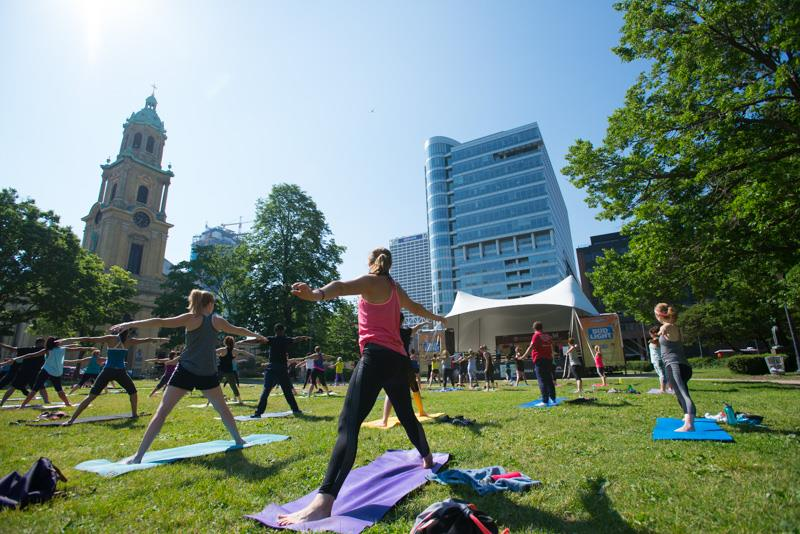 Outdoor Yoga with the Wisconsin Athletic Club